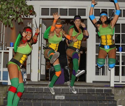 Funny Teenage Ninja Turtles Girls Costume | The best group Halloween costumes for teens girls