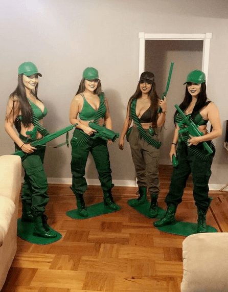Army Men Action Figures Group Costume | The best group Halloween costumes for girls
