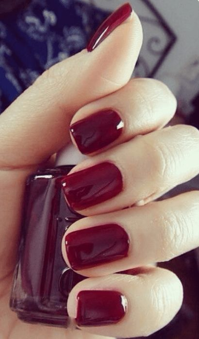 Want the best fall nail color ideas for autumn nails, such as this Dark Red Nail Polish is Stunning for Fall ? Find cute and elegant acrylic and gel polish nail polish ideas for 2020, from light, neutral, orange and matte fall nail color ideas, perfect for both light and dark skins #fallnailcolor #fallnailideas #autumnnailcolors #autumn #fallcolors