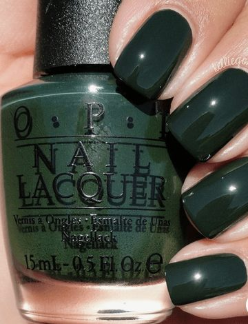 Want the best fall nail color ideas for autumn nails, such as this Chic Jade Green Nail Polish  ? Find cute and elegant acrylic and gel polish nail polish ideas for 2020, from light, neutral, orange and matte fall nail color ideas, perfect for both light and dark skins #fallnailcolor #fallnailideas #autumnnailcolors #autumn #fallcolors