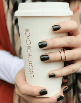 Want the best fall nail color ideas for autumn nails, such as this Elegant Black Nail Color, ideal for Fall weather? Find cute and elegant acrylic and gel polish nail polish ideas for 2020, from light, neutral, orange and matte fall nail color ideas, perfect for both light and dark skins #fallnailcolor #fallnailideas #autumnnailcolors #autumn #fallcolors