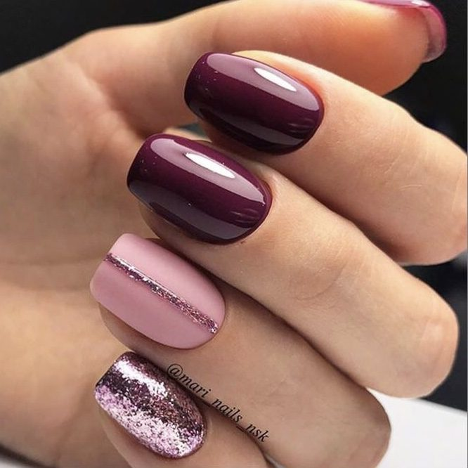 Want the best fall nail color ideas for autumn nails, such as this Burgundy Tones for Fall Nail Polish ? Find cute and elegant acrylic and gel polish nail polish ideas for 2020, from light, neutral, orange and matte fall nail color ideas, perfect for both light and dark skins #fallnailcolor #fallnailideas #autumnnailcolors #autumn #fallcolors