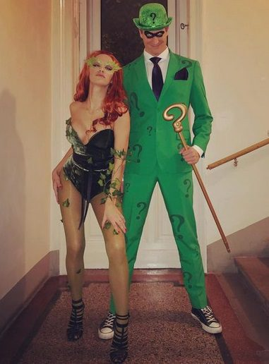 Poison Ivy and The Riddler Costume (Batman Forever) | Looking for iconic couples costume Halloween ideas for 2020? Find the best couples Halloween costume ideas, perfect for matching with your boyfriend. Find hot couples costume ideas, cool Disney characters costumes and the best DIY, funny, and scary couples Halloween costume inspiration.  #CouplesCostumeHalloween #couplescostume #halloweencouples #halloween