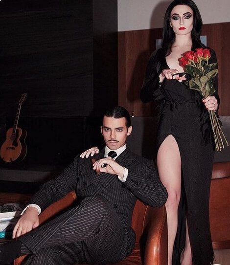 Cute Morticia and Gomez Addams Costume Idea | Looking for iconic couples costume Halloween ideas for 2020? Find the best couples Halloween costume ideas, perfect for matching with your boyfriend. Find hot couples costume ideas, cool Disney characters costumes and the best DIY, funny, and scary couples Halloween costume inspiration.  #CouplesCostumeHalloween #couplescostume #halloweencouples #halloween