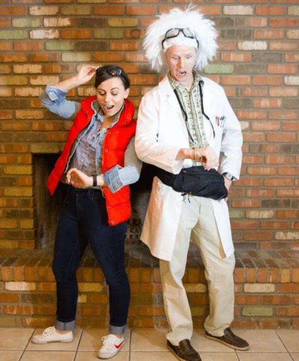 Back to the Future Couple's Halloween Costume Looking for iconic couples costume Halloween ideas for 2020? Find the best couples Halloween costume ideas, perfect for matching with your boyfriend. Find hot couples costume ideas, cool Disney characters costumes and the best DIY, funny, and scary couples Halloween costume inspiration.  #CouplesCostumeHalloween #couplescostume #halloweencouples #halloween