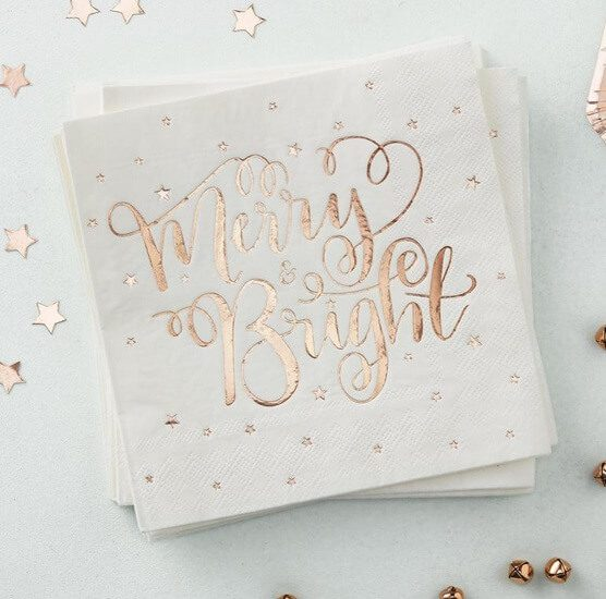 Blush Pink Christmas Napkins | Want ideas for a themed Christmas decor this year? There is nothing more elegant and feminine that pink gold decor and the sky is the limit when looking for pink gold Christmas decoration. From pink Christmas tree, elegant gold pink Christmas decoration and ornaments, gold pink xmas wreaths, gold pink ideas DIY and the cutest gold pink Christmas decor from the dollar store. #pinkchristmas #pinkgoldchristmas #pinkchristmasdecor #pinkchristmasaesthetic #themedchirstmas