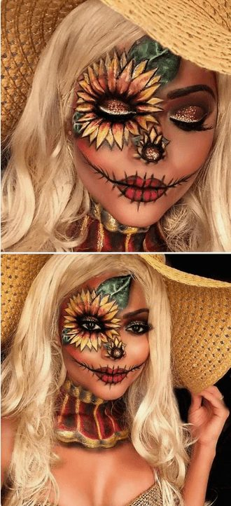 Creative Scarecrow Makeup