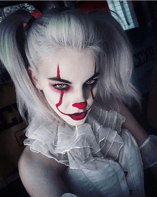 Sexy Clown Makeup Idea for Halloween (Pennywise Makeup)