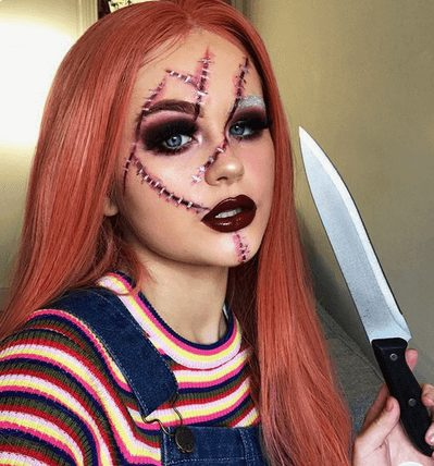 Sexy Chucky Makeup for Girls