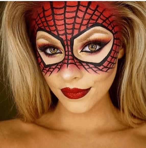 Easy Spider Man Makeup (Marvel Heroes Paint on Makeup)