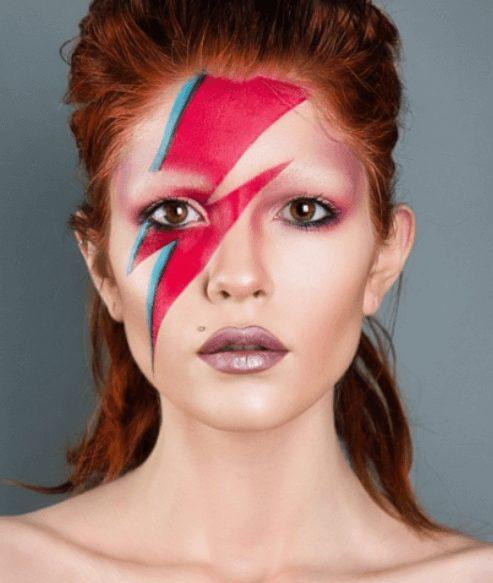 David Bowie pretty Halloween MakeUp for women