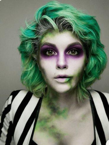 Beautiful Beetlejuice Makeup for Halloween