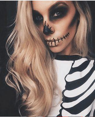 Easy Skeleton Makeup