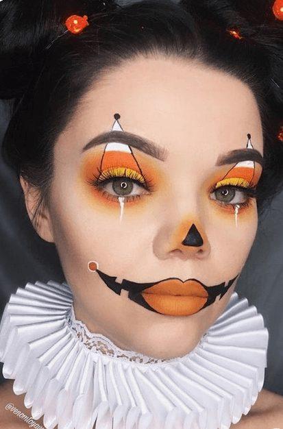 Elegant Clown Halloween Makeup Idea