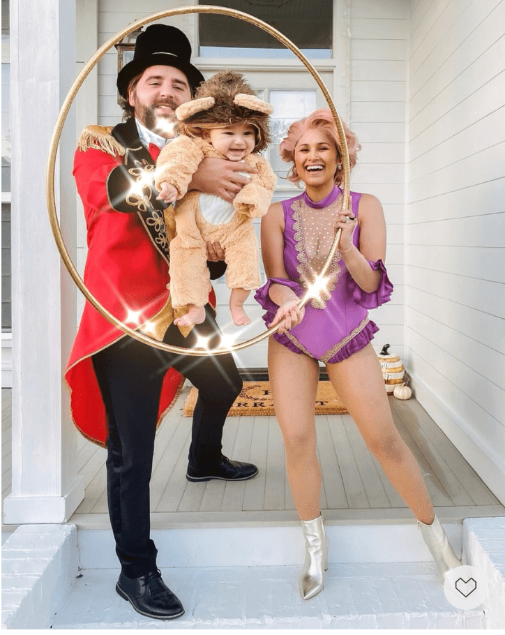 Circus Family (with baby lion). Best couples Halloween costume ideas.