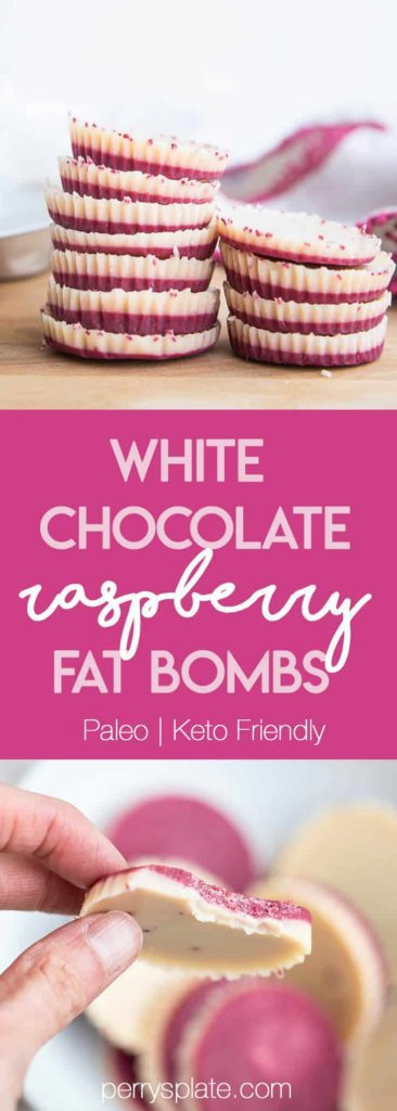 Looking for delicious sugar-free Christmas candy recipes, such as this White Chocolate Raspberry Fat Bombs? Find the best keto candy recipes for Christmas party. From easy sugar-free candy recipe with apples, crockpot, and delicious homemade holiday fat bombs and treats #christmascandy #sugarfreecandy #ketocandyrecipes
