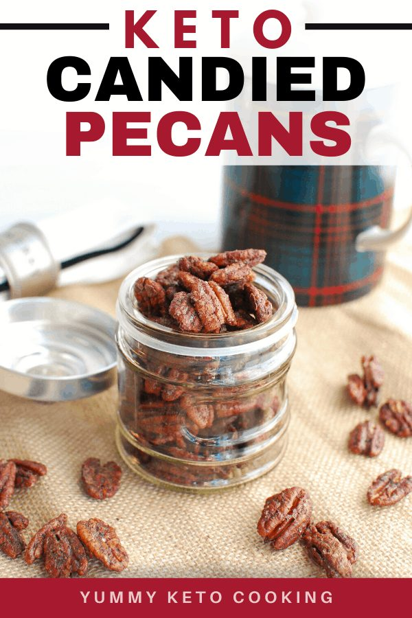 Looking for delicious sugar-free Christmas candy recipes, such as this Keto Candied Pecans? Find the best keto candy recipes for Christmas party. From easy sugar-free candy recipe with apples, crockpot, and delicious homemade holiday fat bombs and treats #christmascandy #sugarfreecandy #ketocandyrecipes