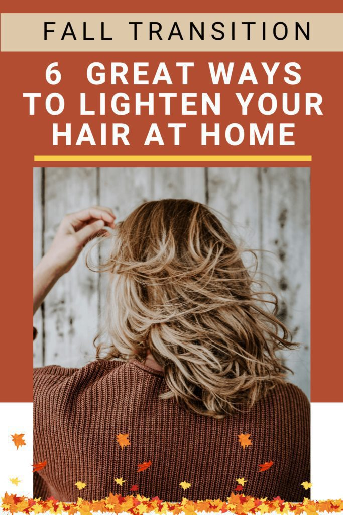 Want to know different ways to lighten your hair naturally at home for Autumn? Click to learn 11 great ways to lighten your hair at home without bleach and get natural hair highlights for the season change.