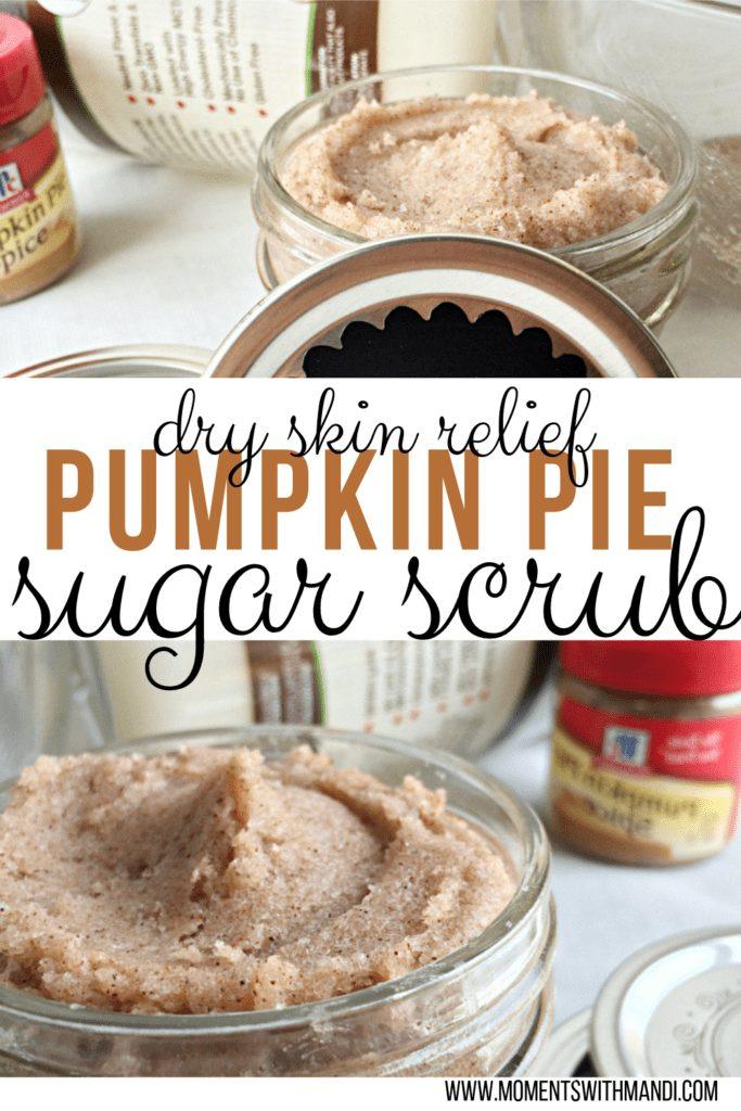 It's pumpkin spice time! The season is changing from summer to autumn. Do you want an easy DIY pumpkin sugar scrub to help with your dry skin during Fall and Winter? Click and learn how to make your own DIY Pumpkin Pie sugar scrub for dry skin relief