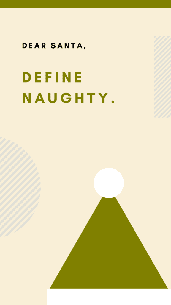 Naught and Nice Iphone Christmas Wallpaper