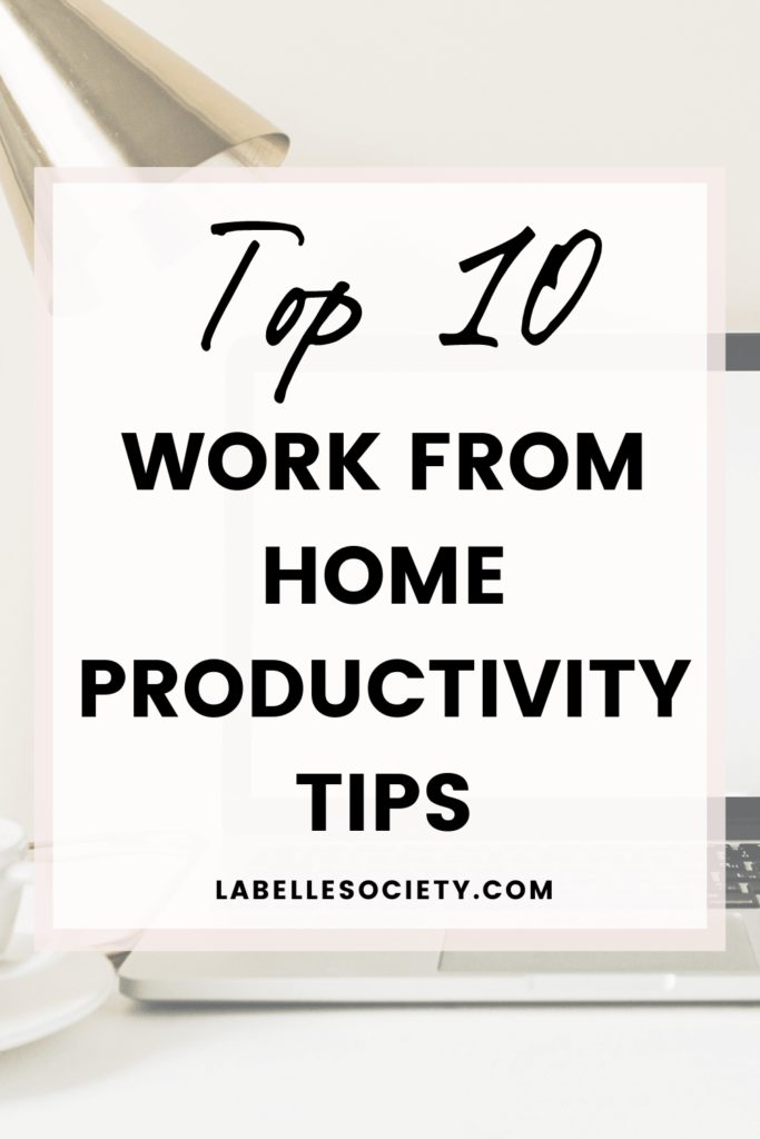 Ever heard of 'work smarter, not harder'? By being efficient with your time, you'll be sure to accomplish more with less stress and more motivation. Click to find the top 10 working from home productivity tips to increase your success. #productivitytips #workfromhometips #workfromhomeproductivity #productivity #workfromhome