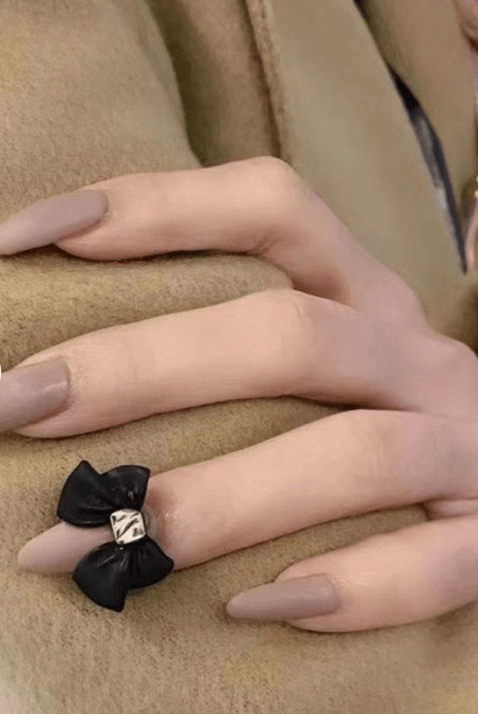 Bowtie Nail Charm Metallic Large size nail decals/ Nail polish UV gel supply Instagram Pinterest Nail Inspiration