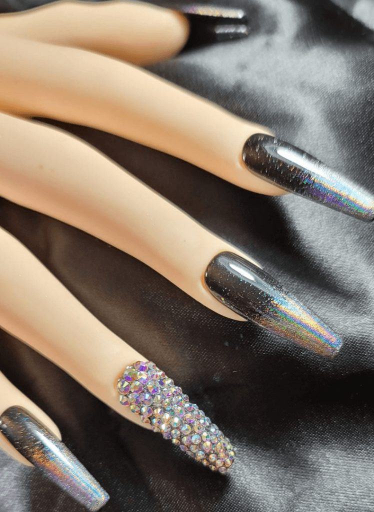 Black / Holographic / Ombre / Gems / Long Coffin / Press On Nail