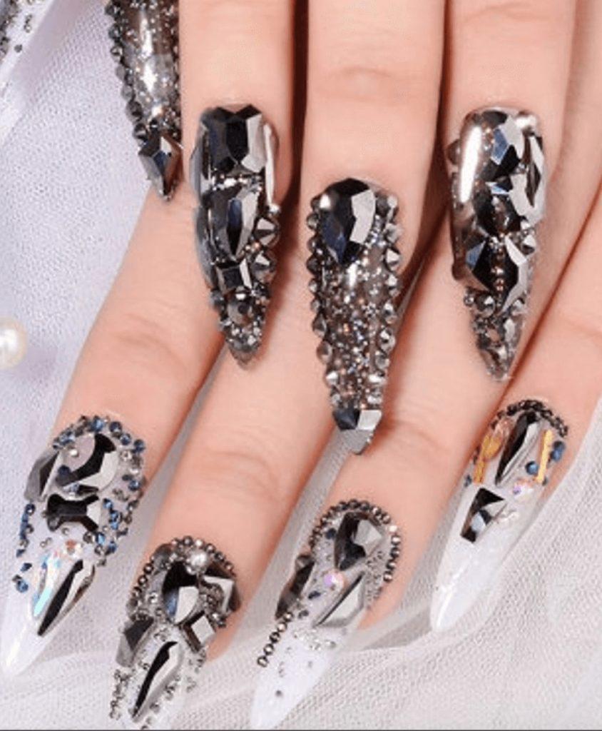 3D rhinestones black glitter 10g, rhinestones flat back, nail art, glitter stones, DIY, jewelry, mixed size, gemstones,black crystal