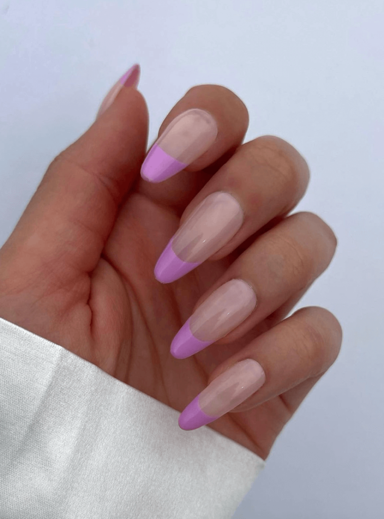 Purple French Tip Press on Nails