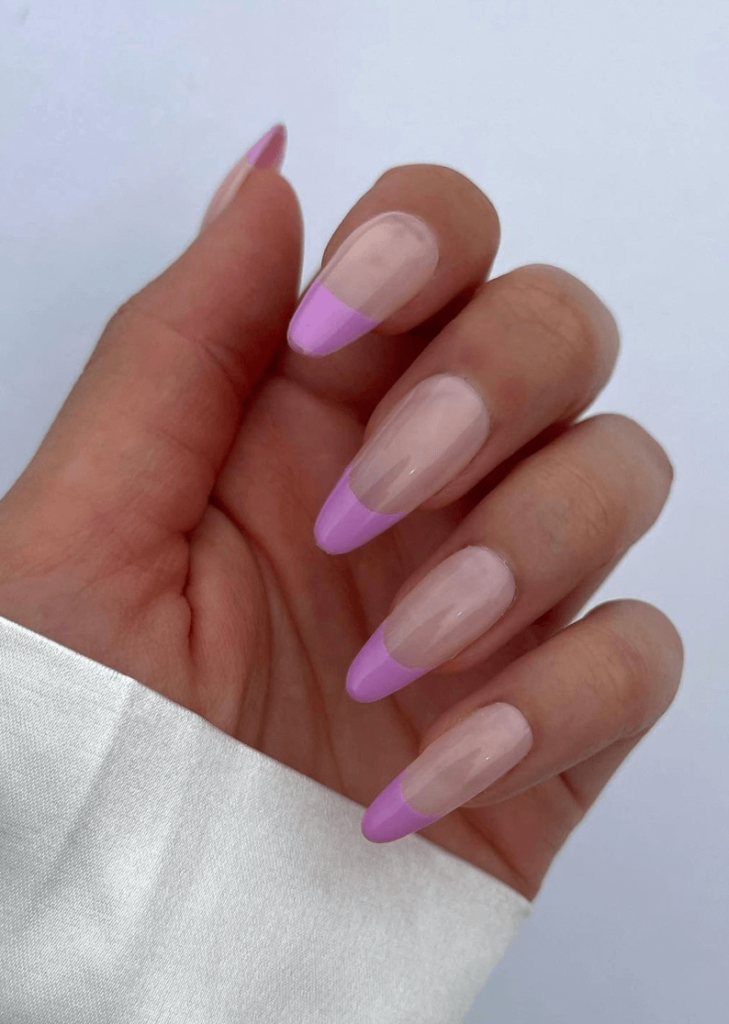 Lavender French Tip Press on Nails