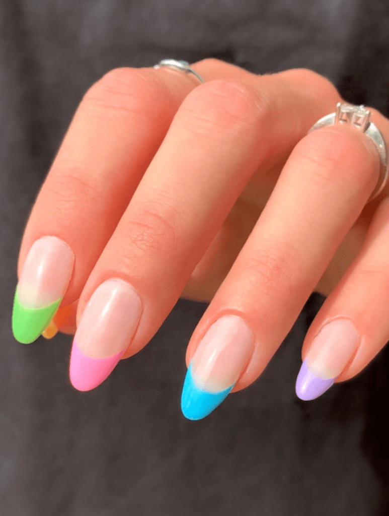 IVY Reusable Press On Nails • Colorful French Nails