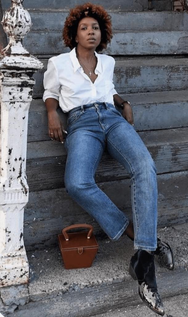 black cowboy boots with denim style idea