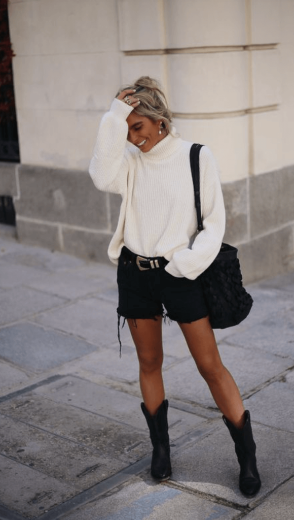 black cowboy boots outfit inspiration