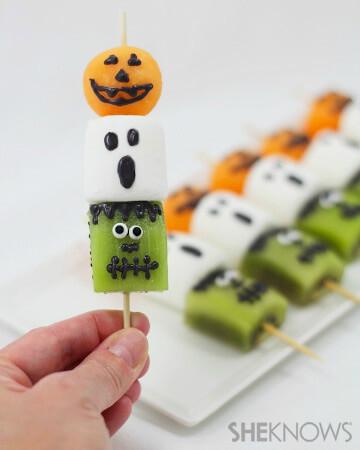 Healthy Halloween Snack Ideas Spooky (& Adorable) Fruit Kebabs