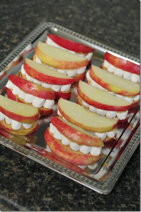Healthy Halloween Snack IdeasApple Mouths