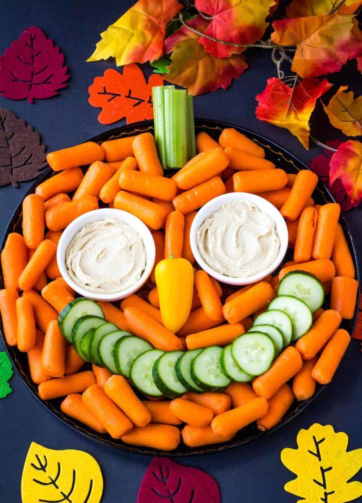 Healthy Halloween Snack Ideas Pumpkin Veggie Tray