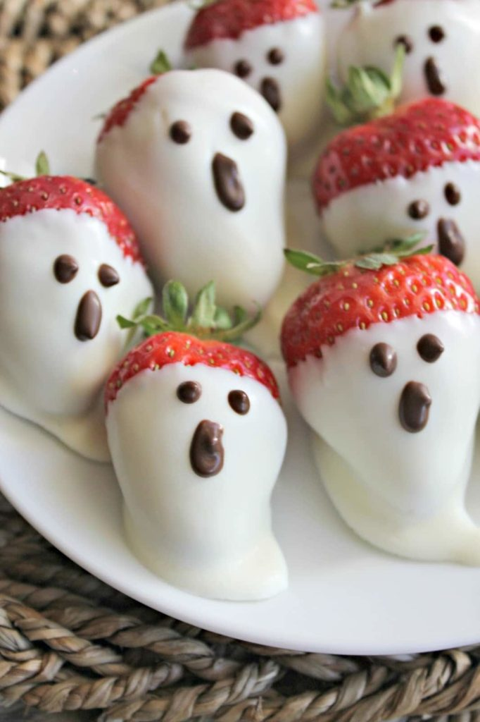 Healthy Halloween Snack Ideas Ghost Strawberries
