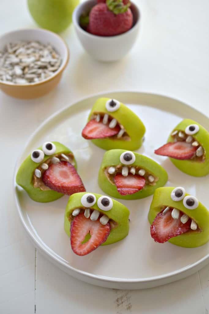 Healthy Halloween Snack Ideas Silly Apple Bites