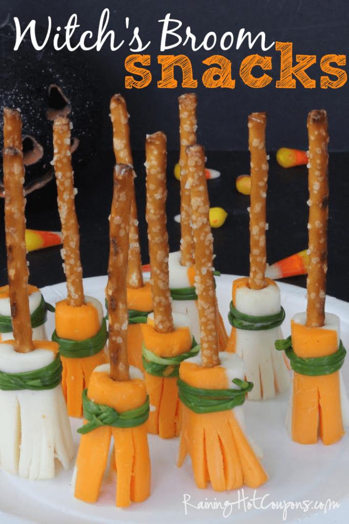 Healthy Halloween Snack Ideas Witch's Broom Snacks