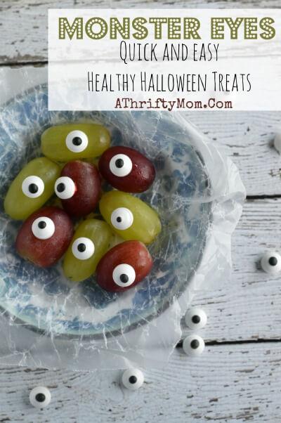 Healthy Halloween Snack Ideas Monster Eyes (Grape Eyes)
