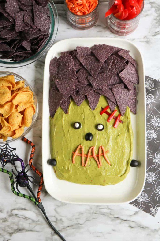 Healthy Halloween Snack Ideas Monster Frankenstein Guacamole