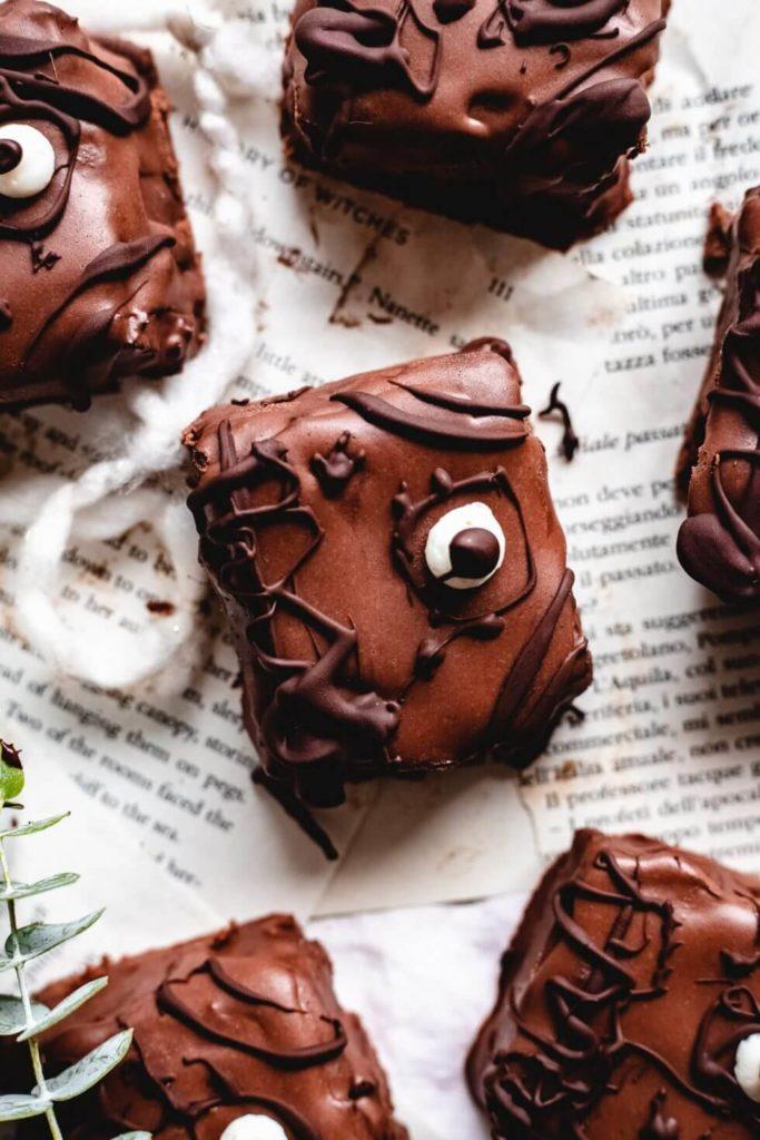 Healthy Halloween Snack Vegan Hocus Pocus Spellbook Brownies