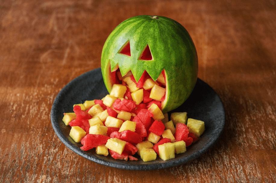 Healthy Halloween Snack Ideas Watermelon Head
