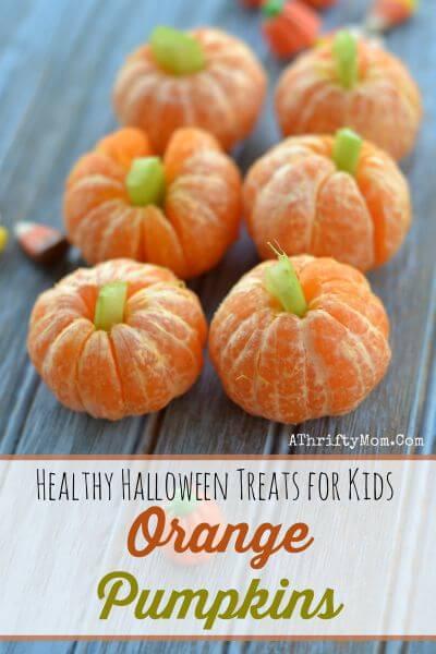 Healthy Halloween Treats for Kids, Orange Pumpkins