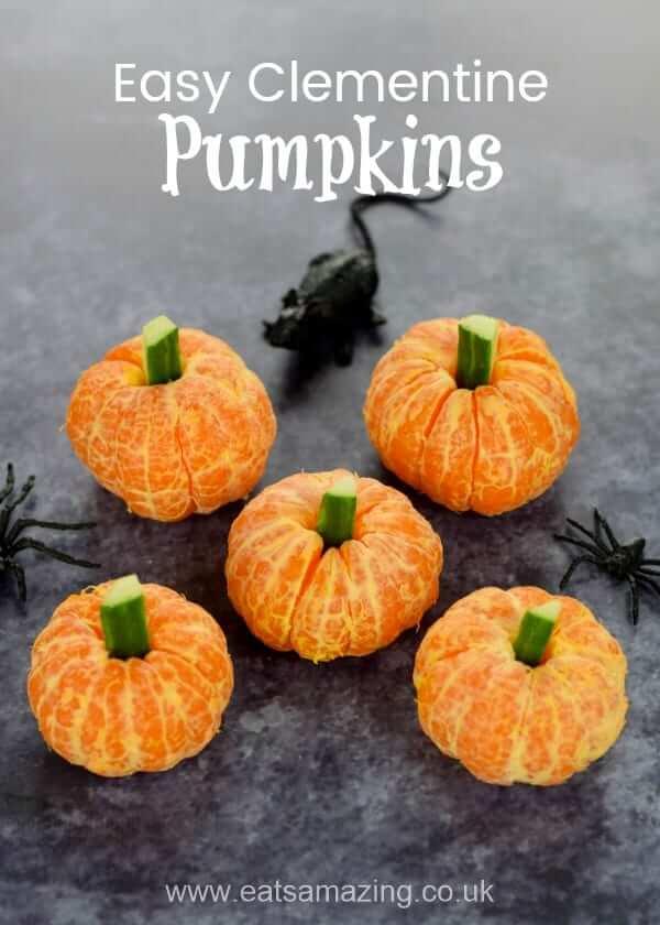 Healthy Halloween Snack Ideas Easy Clementine Pumpkins