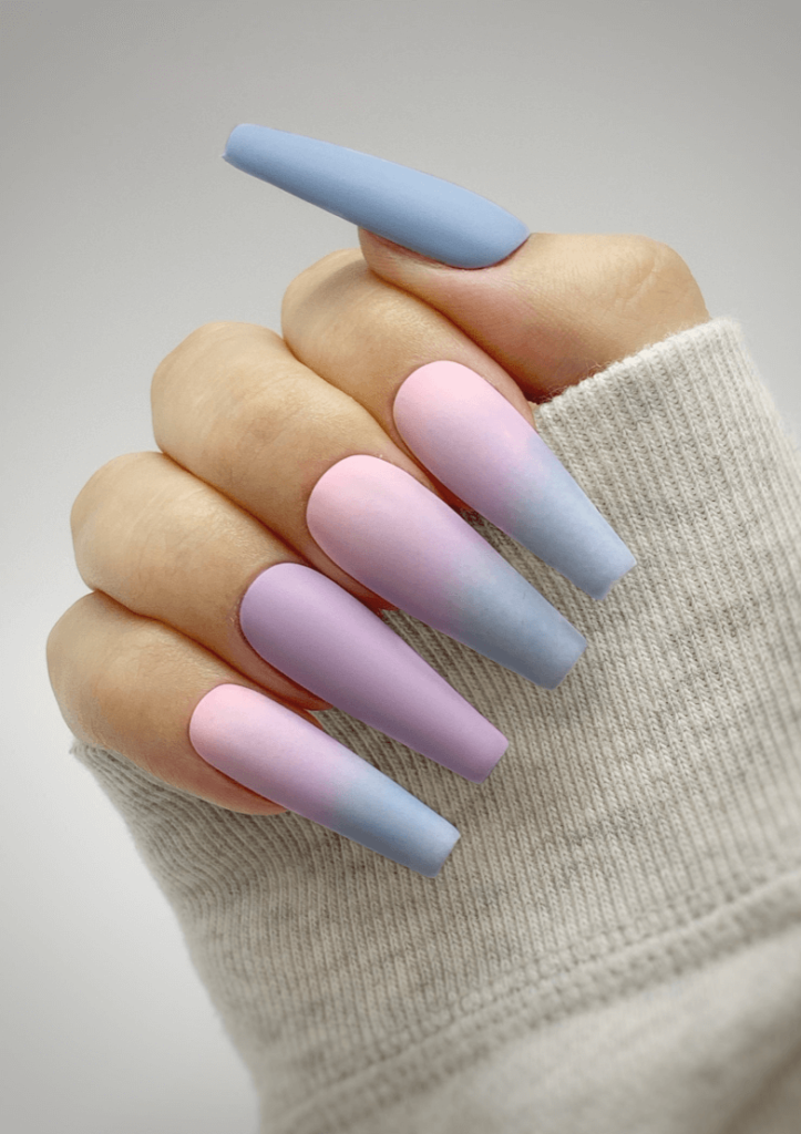 Cotton Candy Ombre Press On Nails
