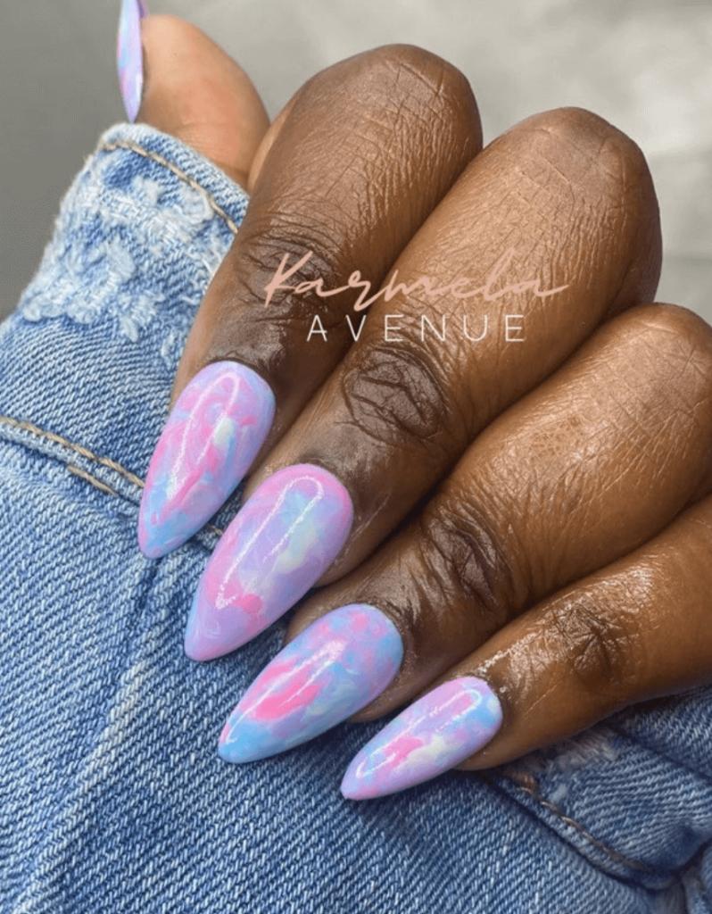 Cotton Candy Set   Purple Marble Press On Nail Set   Blue Marble Press On Nail Set   Pink Marble Press On Nail Set