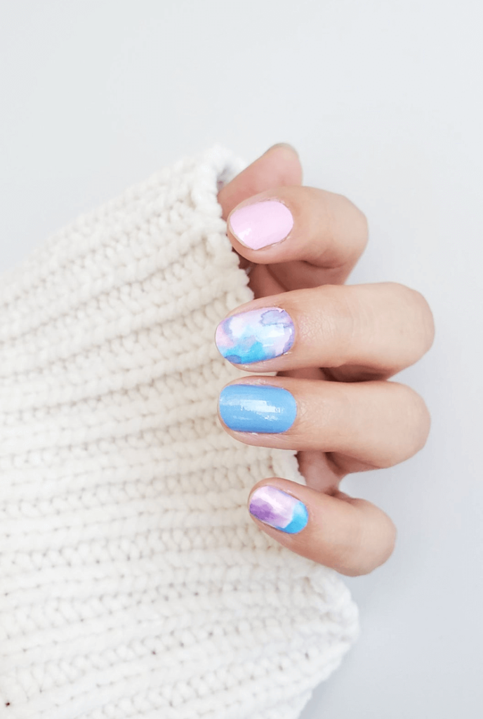 Seriously Adorable Cotton Candy Nails Designs That You'll Love