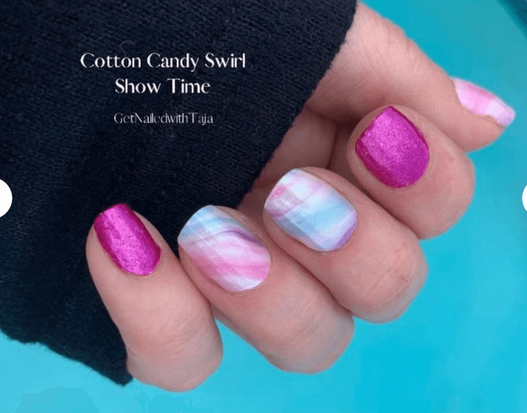 Cotton Candy Swirl with Mix or Match nail strips