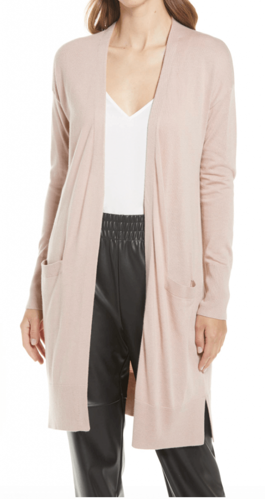 40+ Stylish Work From Home Outfit Ideas So You Always Look Cool, such as this Open Front Pocket Cardigan #wfh #wfhoutfits #everydayoutfits #casualoutfits